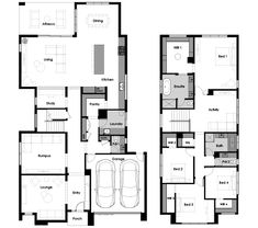 Floor plan for Hive 46 Narrow House Plans, Dream House Plans, Duplex Floor Plans, House Floor Plans, Home Design Plans, Plan Design, 3 Storey House, Sims House, Rooms Home Decor