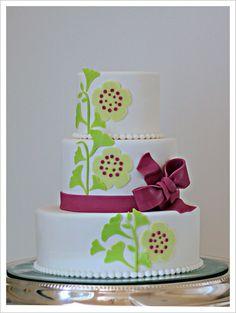Graceful Ginkgo Wedding Invitation Cake