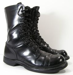 vintage combat boots womens 9 m b or mens 75 D R by moivintage, $59.99