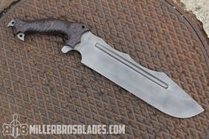 Miller Bros. Blades Custom Chopper in Z-Wear PM steel. Miller Bros. Blades Custom Handmade Knives, Swords & Tomahawks.