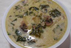 Bramborovo-žampionová polévka se špenátem Cheeseburger Chowder, Soup, Soups