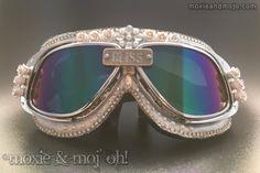 "Burning Man Goggles ~ ""Bliss"" (aka) ""Playa Bride"" by MoxieandMojoFashion on Etsy"