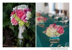 Pink, white, and green bouquet l Courtney McManaway Photography