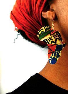 African Earing ~African fashion, Ankara, kitenge, African women dresses, African prints, Braids, Nigerian wedding, Ghanaian fashion, African wedding ~DKK