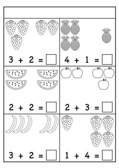Addition – Sums up to 5 / FREE Printable Worksheets – Worksheetfun Kindergarten Addition Worksheets, Subtraction Kindergarten, Printable Preschool Worksheets, Subtraction Worksheets, Preschool Learning Activities, Free Printables, Math Sheets, Watercolor Techniques, Summer School