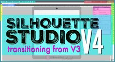 Updating to Silhouette Studio V4 from V3: What To Know to Ease the Transition to the new Silhouette Studio software Silhouette Cameo 2, Silhouette School Blog, Silhouette Cameo Tutorials, Silhouette Portrait, Silhouette Projects, Silhouette Design, Silhouette Files, Shilouette Cameo, Craft Tutorials