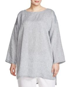 Eileen Fisher Plus Chambray Tunic | Bloomingdale's