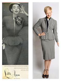 1950's Lili Ann wool suit -  dethrosevintage, $298.00