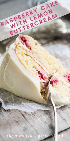 Raspberry Lemon Cakes, Lemon Tea Cake, Raspberry Frosting, Raspberry Desserts, Raspberry Cheesecake, Strawberry Pie, Cheesecake Bites, Fresh Raspberry Recipes, Lemon Layer Cakes