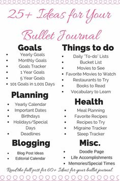 Bullet Journal Ideas Looking for new ideas for your bullet journal? Here's a unique and detailed list of pages for your bullet journal.Looking for new ideas for your bullet journal? Here's a unique and detailed list of pages for your bullet journal. Journal Guide, My Journal, Journal Prompts, Journal List, Nature Journal, List Of Bullet Journal Pages, Bullet Journal Layout Daily, Bullet Journal Décoration, Bullet Journal Spreads