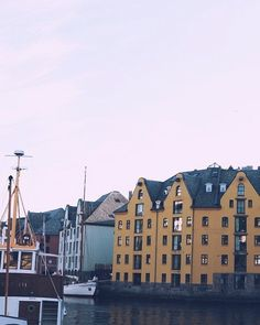 If you could choose; in which colour house would you live in? . . . . . #ålesund #norway #travel #visitnorway #summerevening
