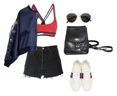 """Untitled #5329"" by lilaclynn ❤ liked on Polyvore featuring RE/DONE, Tommy Hilfiger, Gucci, H&M, coach and gucci"