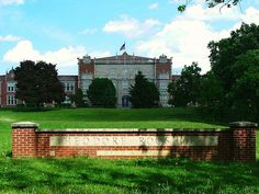My high school with it's majestic front lawns. Built in 1927  Theodore Roosevelt High School Des Moines, Iowa