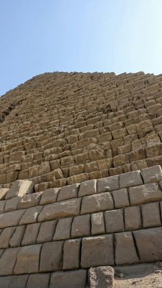 Menkaure Pyramid outer casing.. Giza, Egypt.