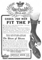 Arnold King Quality Shoes 1905 Ad Picture