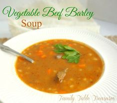 Dad's Favorite {Family Table Treasures} Recipes Polish Cabbage Soup Recipe, Cabbage Soup Recipes, Cabbage Soup Diet, Chili Recipes, Broccoli Recipes, Salad Recipes, Healthy Recipes, Vegetable Beef Barley Soup, Vegetable Recipes