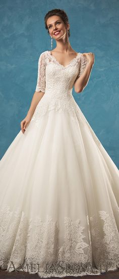 Amelia Sposa half sleeves A line wedding dresses Patrizia 2017 vol1