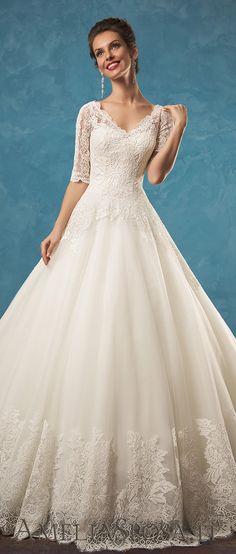 Amelia Sposa half sleeves A line wedding dresses Patrizia 2017 vol1