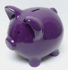 Color Morado - Purple!!! Piggy Bank