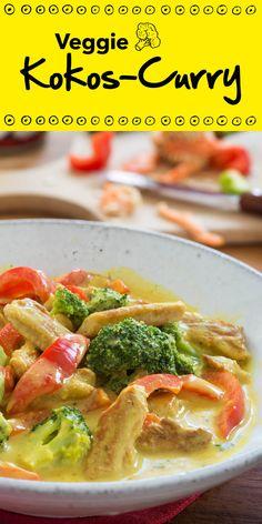 Mit diesem Veggie Kokos-Curry kannst du dir eine Auszeit vom Alltag gönnen und eine kulinarische Reise nach Asien unternehmen. Freu dich auf ein exotisches Gericht und entdecke, wie lecker Curry auch ohne Fleisch schmeckt!