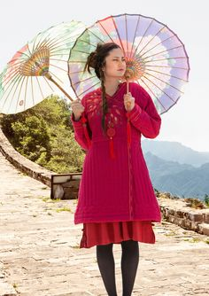 """""""Li Wei"""" coat in cotton/rayon – FLORAL Lucky Day – GUDRUN SJÖDÉN – Webshop, mail order and boutiques 