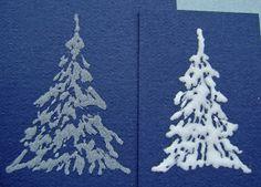 glue and glitter trees