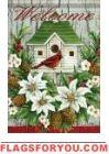 Cardinal Birdhouse House Flag