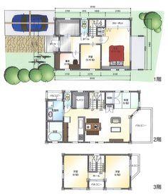 プラン集:3階建て狭小住宅 15坪でも充実した収納でゆとりの間取り ... cb-sm-e12-02.jpg