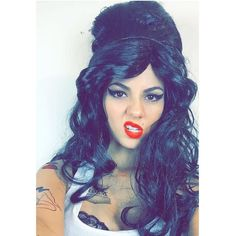 Pin for Later: Your Favorite Stars Got Into the Halloween Spirit With These Fun Costumes Victoria Justice as Amy Winehouse
