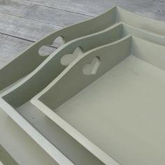 Wooden Tray - Celadon