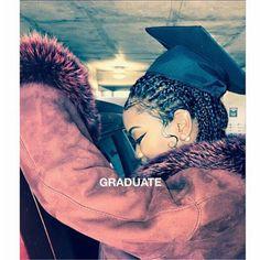 Beautiful braids - All For Bridal Hair Grad Pics, Graduation Pictures, Graduation Ideas, Senior Pics, Black Girls Rock, Black Girl Magic, Graduation Photoshoot, Bad And Boujee, Black Goddess