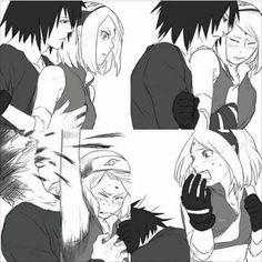 Good reflex you got there Sakura . LOL  Sasuke | Sakura | Naruto