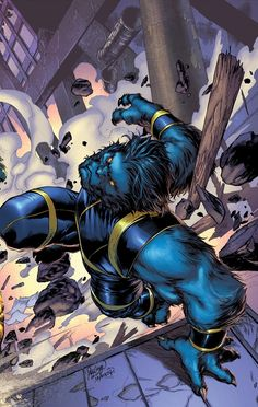 Henry McCoy a.k.a. Beast. Beast is my alltime favorite Marvel character.
