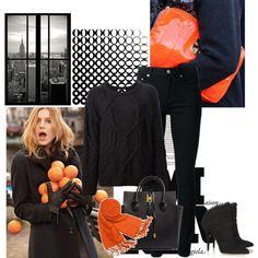 """Orange day"" by sarapires on Polyvore"