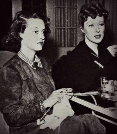 Bette Davis and Greer Garson.