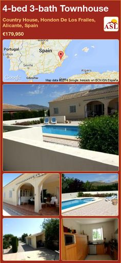4-bed 3-bath Townhouse in Country House, Hondon De Los Frailes, Alicante, Spain ►€179,950 #PropertyForSaleInSpain