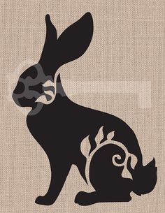 Filigree rabbit  original illustration digital by TanglesGraphics, $1.00