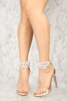 The features includes a bold color with clear straps, ankle strap with gemstone … – Ana Ramirez - Touching and Emotional Image Sexy Legs And Heels, Hot High Heels, Platform High Heels, Lace Up Heels, Ankle Strap Heels, Ankle Straps, High Heel Pumps, Womens High Heels, Pumps Heels