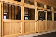 centered doors, recessed fronts and crown molding. little touches that could make a homemade stall look like a professional kit one
