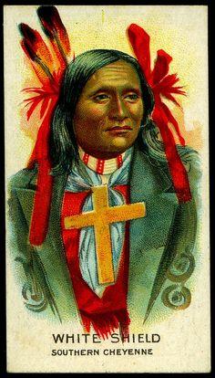 Cigarette Card - Indian Chief, White Shield