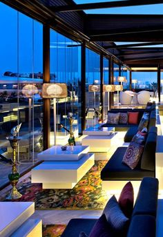 Banshee rugs by Surya found in the Shisha Lounge at the Four Seasons Hotel in Doha, Qatar  (BAN-3354).