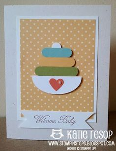 Stampin' Up!  Punch Art  Katie Resop at Stampin' Steps: BABY PUNCHES