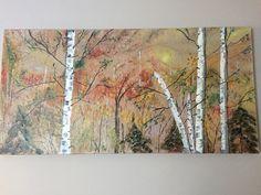 Birch Trees 2'x4' Acrylic $110.00