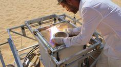 Solar Sinter. La impresora 3D que funciona con energía solar e imprime con arena del desierto
