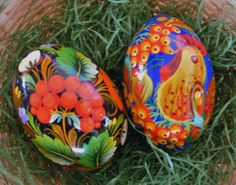 handpainted Russian Easter eggs.