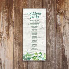 Printable Wedding Program Elaine Collection