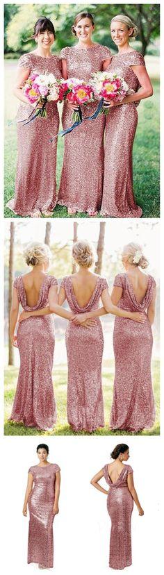 Sequin bridesmaid dresses, mermaid bridesmaid dresses, cap sleeve bridesmaid dresses, stunning bridesmaid dresses, popular bridesmaid dresses,PD190166