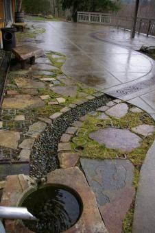From Stormwater Management to Artful Rainwater Design | College of Arts And Architecture   Stream visualized/directed in concrete
