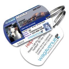 Alaska Driver's License Pet Tag