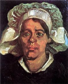 III_240nHead of a Peasant Woman with White Cap - Vincent van Gogh